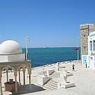 Station thermale de Korbous : vue sur mer